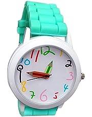 Smarent Digital Fashion - Reloj de Pulsera para niños, Cuarzo, Unisex, diseño de Puntero para niños, Color Verde