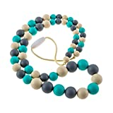 Chew-Choos 'Playdate' Silicone Nursing Necklace - Modern Eco-friendly Baby Teether (Oceana)