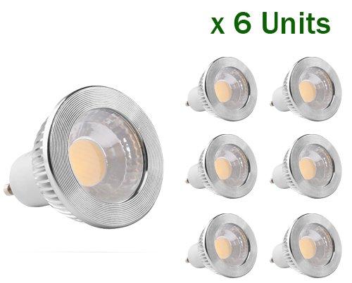 GOOLSUN 5-watt GU10 LED COB Flood Bulb, 2700K Warm White, Dimmable, 90 Beam Spread, 50-watt Equivalent, 500 lumens, CRI 80+, AC 120V, 2.4