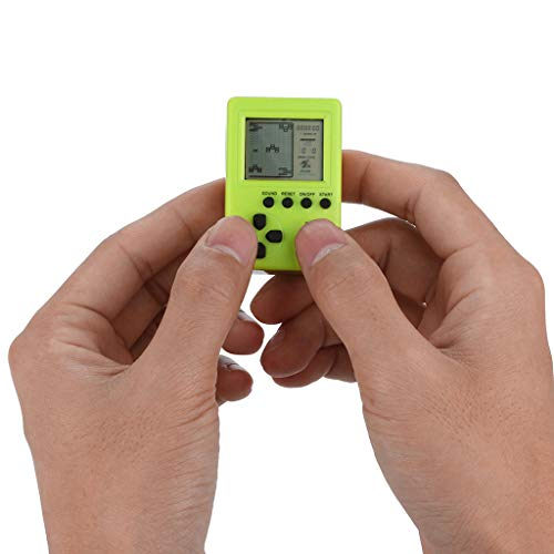 Livoty Handheld Game Console, Mini Retro Fun Tetris Game Player Pendant Recreational Game Machines Good Gifts for Kids to Adult.