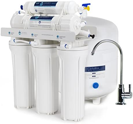 Olympia Water Systems OROS-50 5-Stage Reverse Osmosis Water Filtration System with 50GPD Membrane – NSF Certified