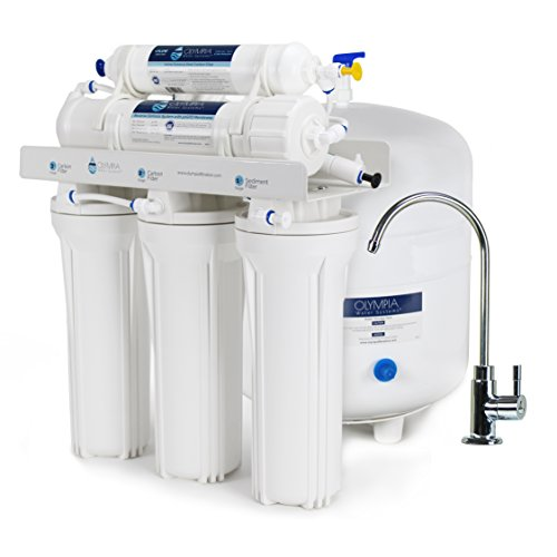 - Olympia Water Systems OROS-50 5-Stage Reverse Osmosis Water Filtration System with 50GPD Membrane - NSF Certified