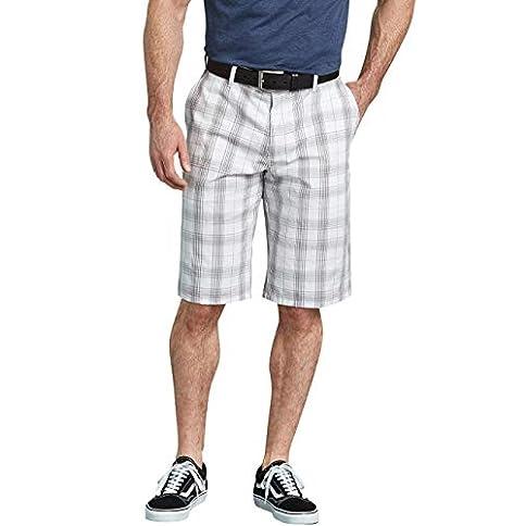 - 41dZ9BZga 2BL - Dickies Men's 13″ Flex Plaid Short Regular Fit