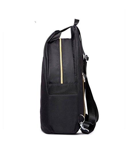 Daypack à AgooLar Nylon à Noir dos Sacs dos Daypack Femme à l'école Aller Sacs ffCq0H
