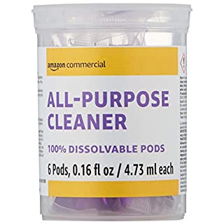 AmazonCommercial Dissolvable All-Purpose Cleaner Refill Vial - 6 Pacs