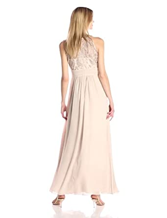 Eliza J Womens Gown with Sequin Lace Bodice Formal Dress