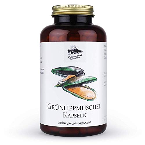 Kräuterhandel Sankt Anton - Grünlippmuschel Kapseln - 300 Kapseln - hochdosiert - Deutsche Premium Qualität