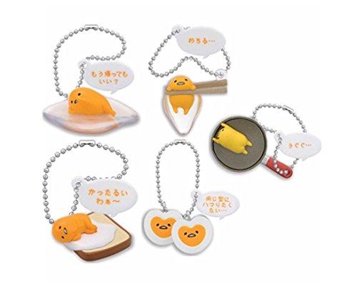 Gudetama The lazy Egg Danglers keychains charm Hanger Complete Set of 5