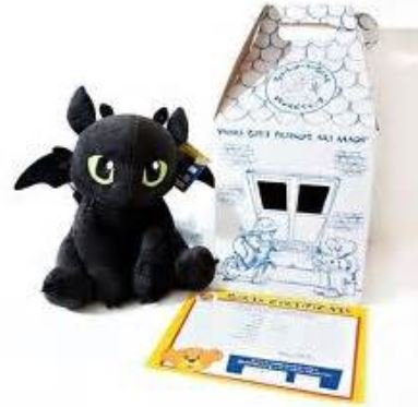 Amazon.com: Build a Bear Toothless 17 in. Stuffed Plush How to Train ...