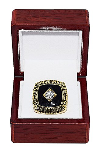 CINCINNATI BENGALS (Ken Anderson) 1981 AFC DIVISION CHAMPIONS Vintage Rare & Collectible High-Quality Replica NFL Football Gold Championship Ring with Cherrywood Display Box