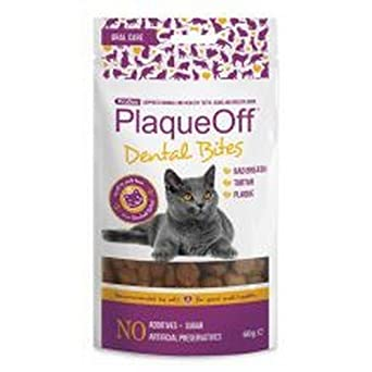 Plaqueoff - Snacks para el cuidado dental para gatos (60g ...