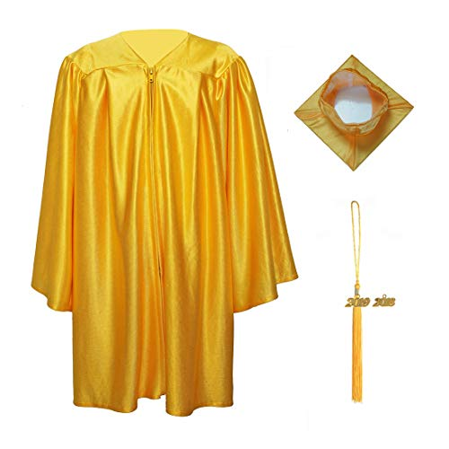 MyGradDay Shiny Kindergarten Graduation Gown Cap Tassel 2019 Package Gold