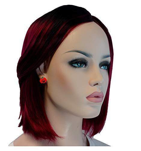 Halloween Accessory Pumpkin Jack O Lantern Pierced Earrings