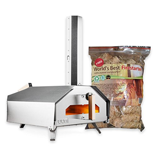 (Uuni (Ooni) Pro Pizza Oven - The First Quad Fueled Pizza Oven - with Free Firestarters (World's Best Firestarters))