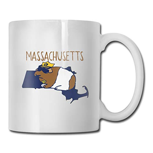 Massachusetts Clay - Guinea Pigs of The USA Massachusetts Custom Coffee Cup / 11oz Ceramic Tea Cup - Novelty Gift