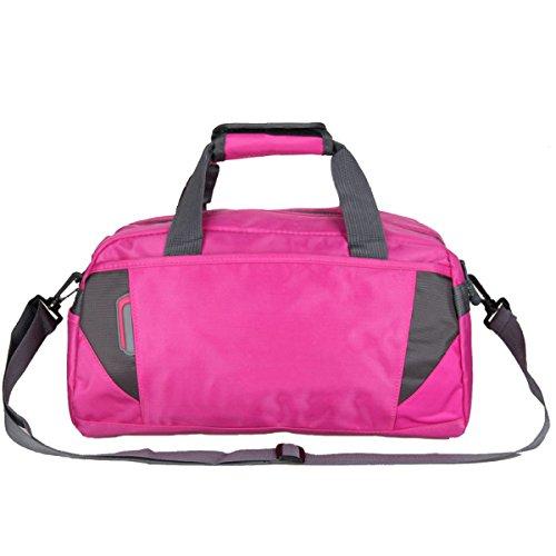 Yy.f Auténtica Moda Bolsas Casual Hombres Y Damas Pequeño Bolso De Mano Cilindro Bolsa De Bolsa De Viaje Kits De Batería Kit De La Aptitud Portable De Los Hombres Multicolor Pink
