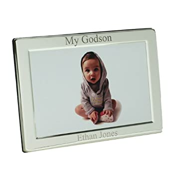 Personalised Silver Plated My Godson Photo Frame, 6\