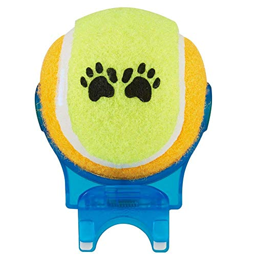 BOMORE Smartphone Attachment Selfie Stick for Pet (Blue Selfie with Yellow Orange Ball)