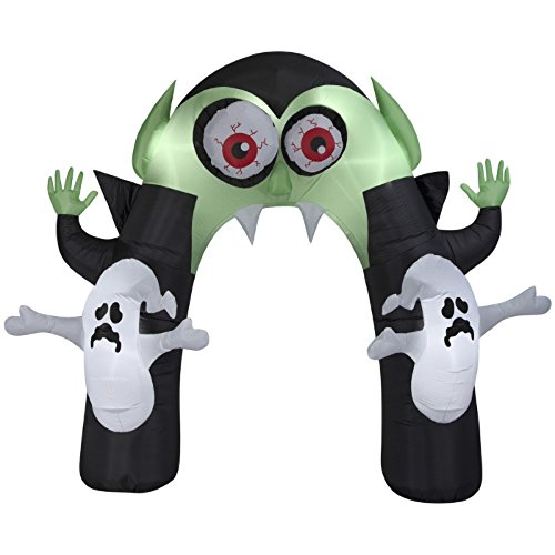 Holiday Living Halloween Inflatable Animated Vampire Monster Archway w/Ghosts By Gemmy