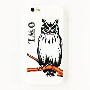 Punk Owl Charming Word Pattern TPU Soft Case for iPhone 5/5S , Multicolor