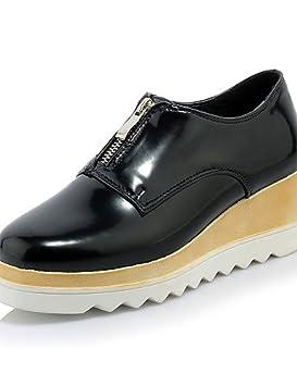 ZQ hug Zapatos de mujer-Plataforma-Creepers-Mocasines-Casual-Semicuero-