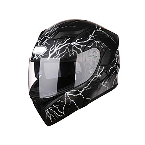 Q&Z Motorbike Helmet,Outdoor Motorcycle Sports Full Face Mountain Cycling Bike Safety Helmet Detachable Lining Pad Impact Resistance Bicycle Helmet with Visor for Adult Men Women