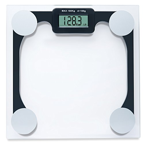 weighing scale – Modern digital scale bathroom scales 400 lb. Capacity weight scale has the Step-On Technology