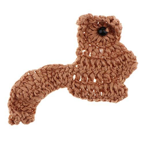 Handmade Yarn Crochet Flower Animal Squirrel Handmade Applique Embellishment
