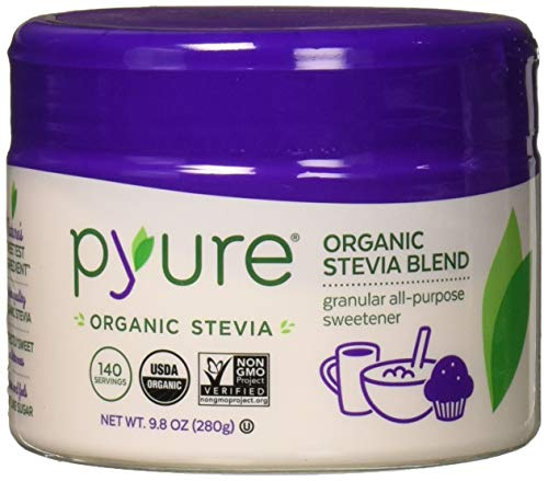 Pyure Organic All-Purpose Blend Stevia Sweetener, Spoonable Sugar Substitute, 9.8 Ounce Tub