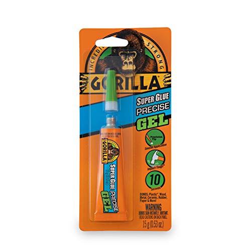 - Gorilla Super Glue Precise Gel, 15g, Clear