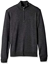 Men's Merino Wool Quarter Zip Sweater