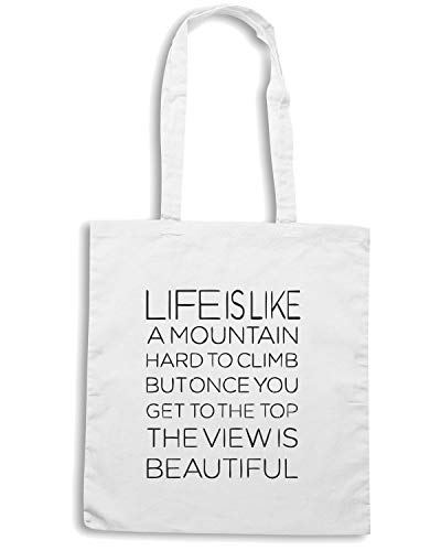 CIT0146 Shirt Bianca A MOUNTAIN LIKE Speed IS Shopper LIFE Borsa HATTqgZ