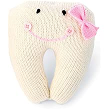 Mud Pie Knit Tooth Pillow, Pink