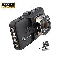 QUMOX 3'' HD 1080P dans véhicule Car Dash Cam DVR caméra vidéo enregistreur G-capteur HDMI