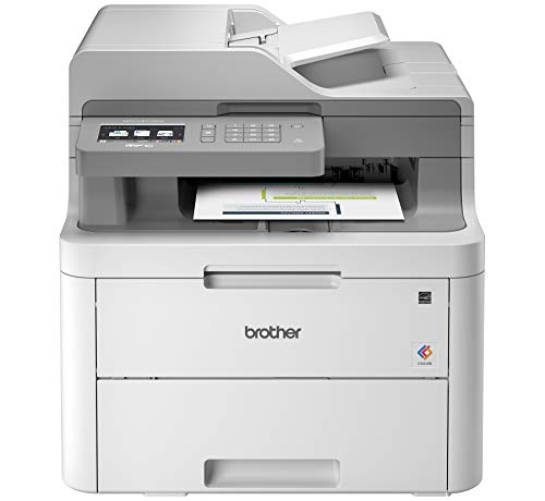 (Brother MFC-L3710CW Compact Digital Color All-in-One Printer Providing Laser Printer Quality Results with Wireless, Amazon Dash Replenishment Enabled)
