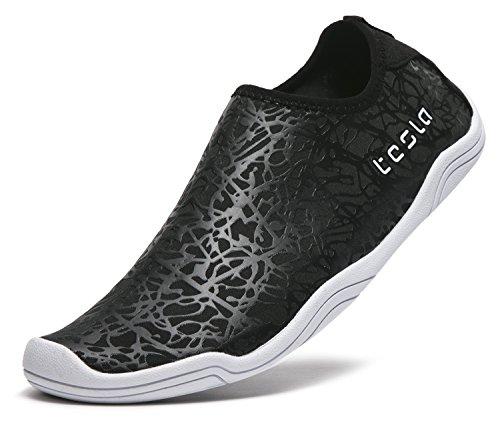 Tesla Männer Frauen & Kinder Slip-On Quick-Dry Minimal Strand Aqua Schuhe A101 / A102 TF-A101-BLK