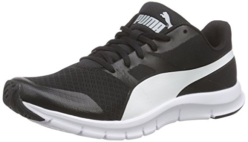 Puma, Unisex-Erwachsene Flexracer Sneakers, Schwarz (black-white 01), 44 EU (9.5 UK)