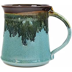 Clay In Motion Handmade Ceramic Medium Mug 16oz - Ocean Tide
