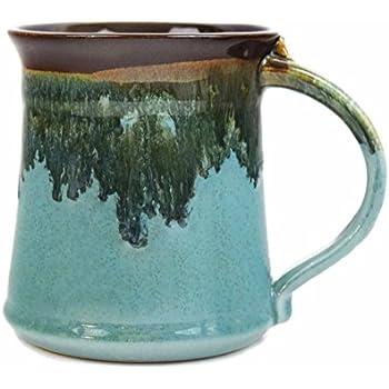 Clay In Motion Handmade Ceramic Medium Mug 16oz - Ocean Tide