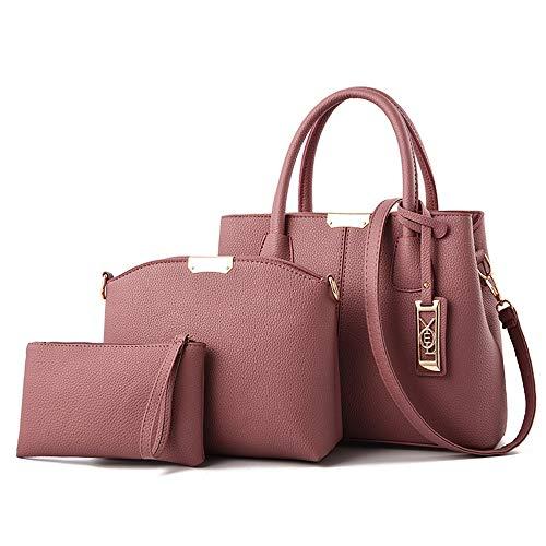 Pink Portafoglio Pu Borsetta Mali Pezzi Unita Tracolla Di Tinta purple 3 Semplice Ms Set A Borsa Moda Itv4xavq