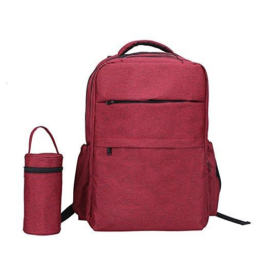 Hombros de estilo empresarial, bolsa multifuncional de la momia ( Color : Negro ) Rosa Roja