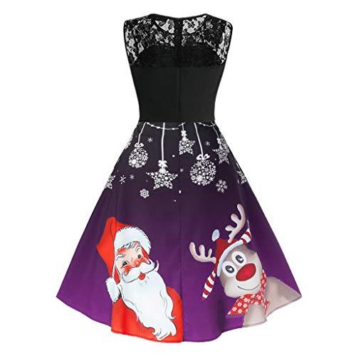 Women's V-Neck Sleeveless Vintage Cocktail Christmas Swing Dress (David Meister Strapless Dress)