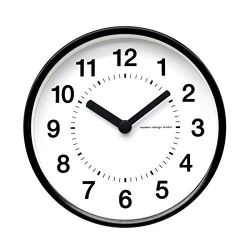 COMODO CASA Wall & Desk Clock- Metal Black Frame-Glass Cover-Non Ticking-Quartz Sweep-Silent 6 inch Retro Clock,White Type C
