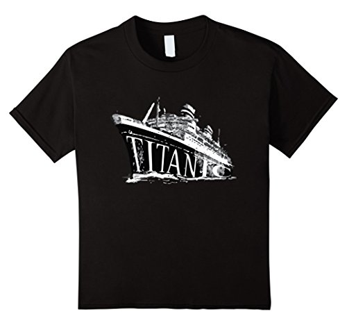 Kids Titanic 1912 Vintage Historical Graphic Tee Shirt 12 Black