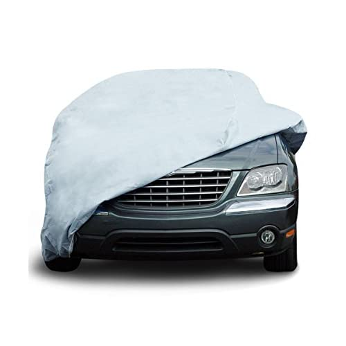 """Top EmpireCovers Titan 5L Waterproof Car Cover Fits Cars up to 16' 8"""" Long - (Gray) for cheap"""