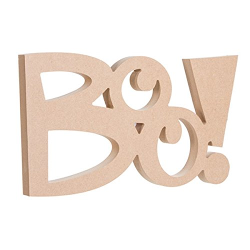 (Darice 30005444 Wood Halloween Decor 'Boo')