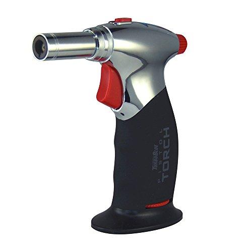 Turbo Blue Jumbo Pistol Torch Dual Flame Lighter - Windproof Flame - Soft Blue Torch Flame Lighter