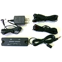 Compact IR Repeater system allows you to Control Home Theater Components Located behind Cabinet Doors