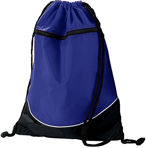 Augusta Sportswear TRI-Color Drawstring Backpack OS Purple/Black/White ()