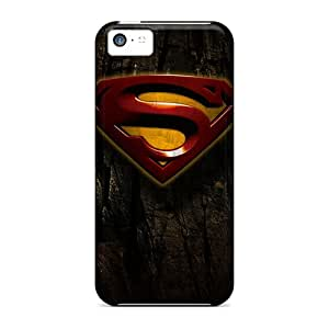High-end Case Cover Protector For Iphone 5c(grunge Superman Logo)